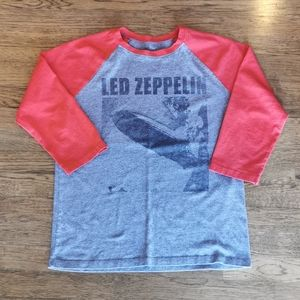 Led Zeppelin Branded Baseball Raglan 3/4 Sleeve S